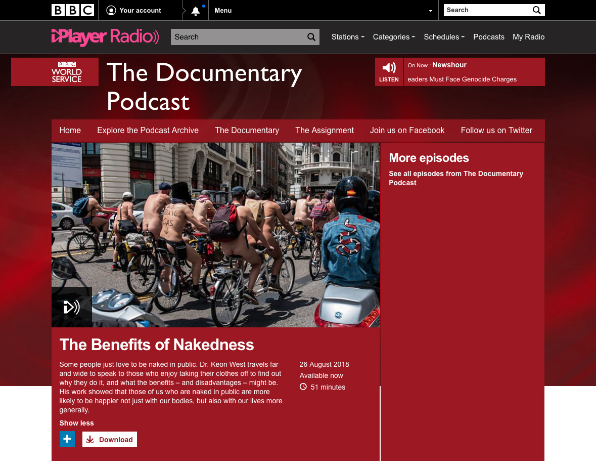BBC World Service - The benefits of nakedness