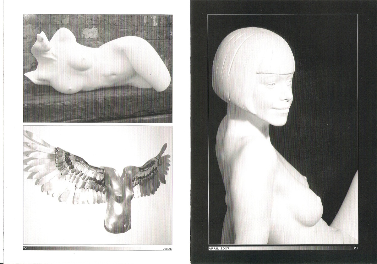 Feature in Jade about Jamie McCartney's artworks including his body cast sculptures