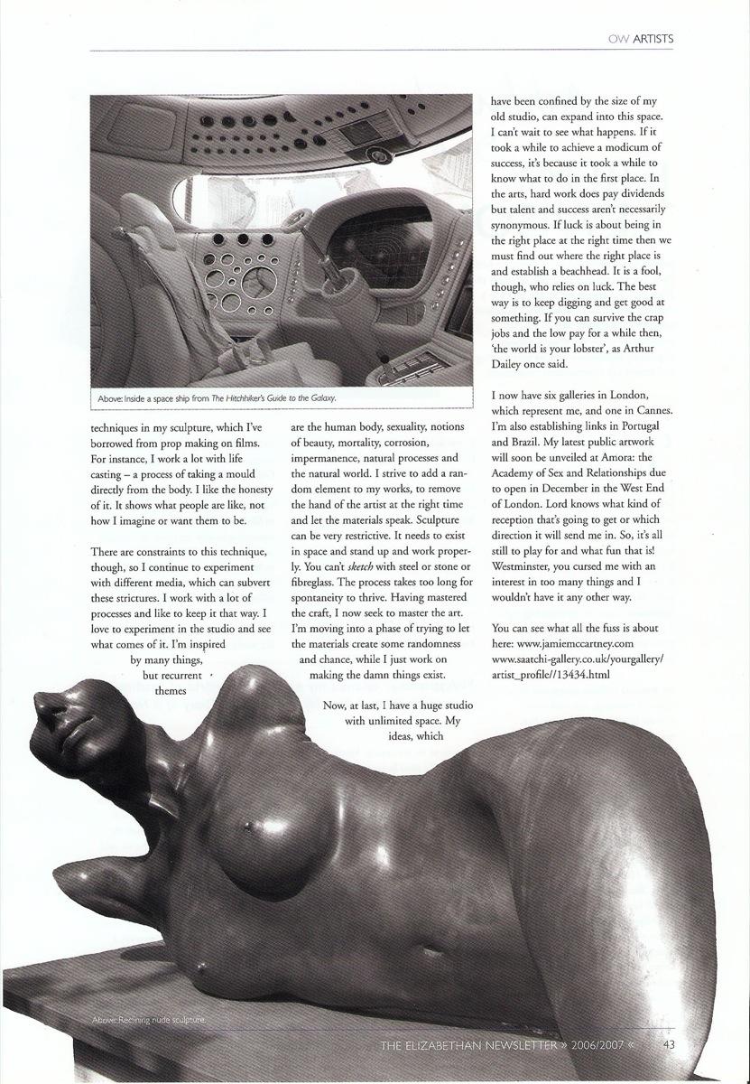 Elizabethan Magazine - Brighton Body Casting