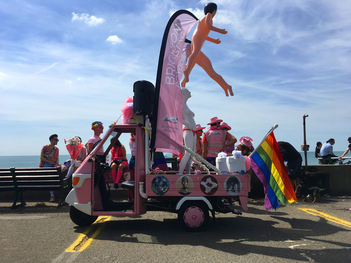 Brighton Body Casting Gay Pride Float 2018