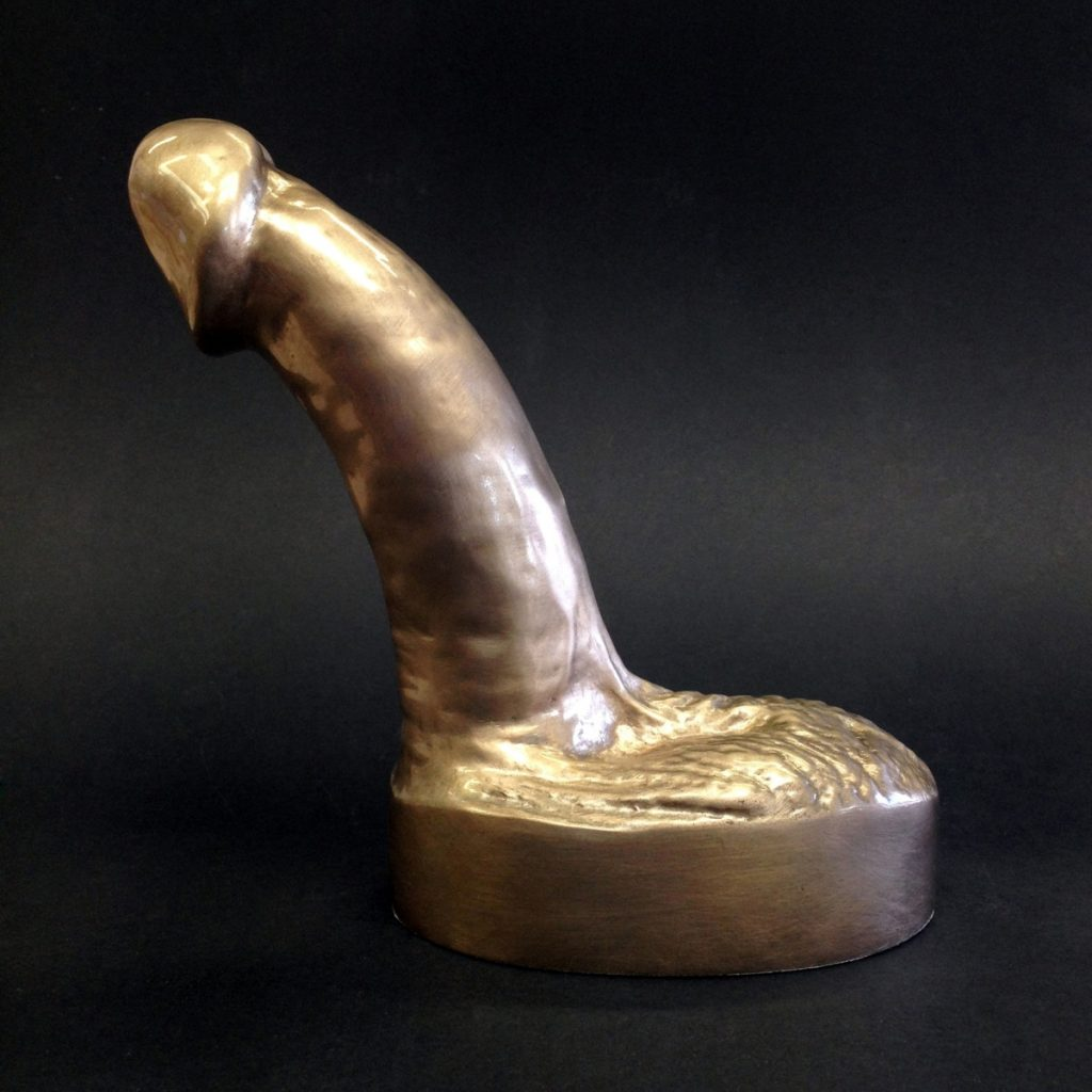 bronze cast penis paperweight pornament